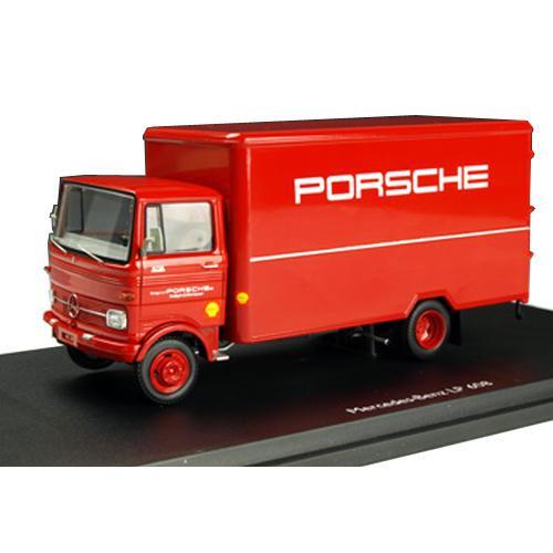 Schuco/シュコー メルセデス・ベンツ LP608 トラック PORSCHE レッド 1/43スケール 03521【C】