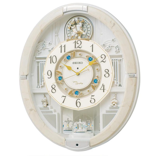 SEIKO セイコークロック 電波クロック 掛時計 からくり時計 ウエーブシンフォニー RE576A【C】