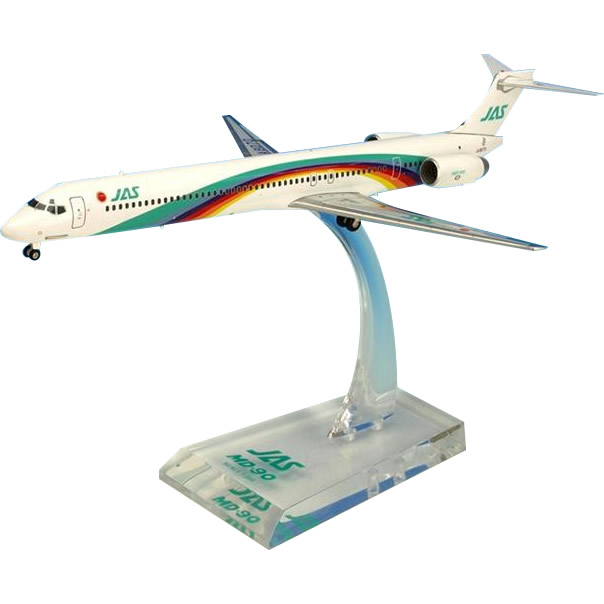 JAL/日本航空 JAS MD-90 7号機 ダイキャストモデル 1/200スケール BJE3040【C】