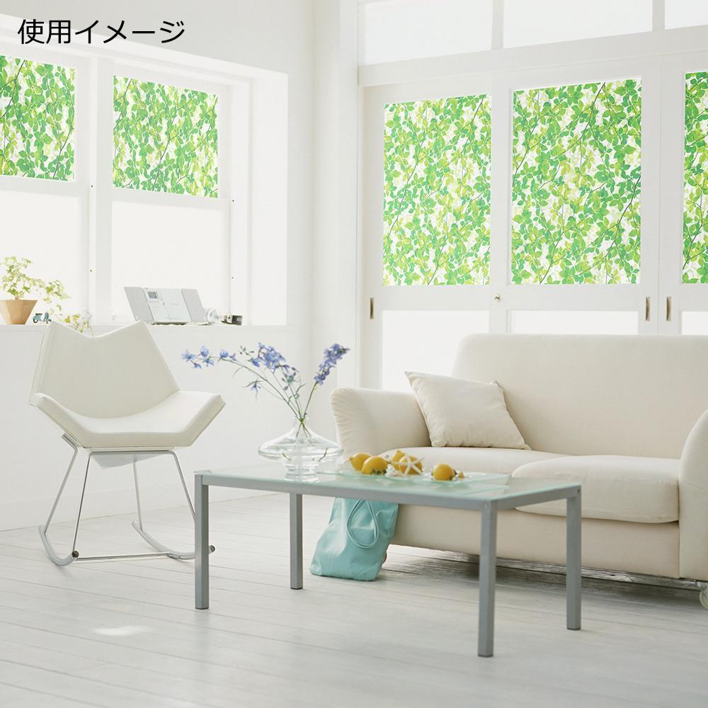 窓飾りシート(プリントタイプ) 92cm幅×15m巻 GR(グリーン) GER-9235【C】
