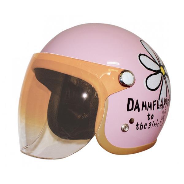 ダムトラックス(DAMMTRAX) フラワージェット ヘルメット PEARL PINK【C】