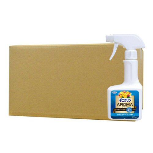 お使いの布団やタタミなどにスプレーするだけで防ダニ加工!除菌効果にアロマの香りをプラス ダニクリンアロマ トロピカルマリン 250ml×24個ケース UYEKI(ウエキ)