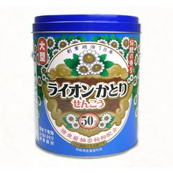 お得なケース販売♪ライオンかとりせんこう 缶タイプ 50巻×12缶/1ケース【日本製蚊取線香】【医薬部外品】【送料無料】