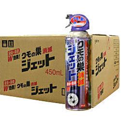 お得なケース購入!クモの巣消滅ジェット 450ml×30本入 クモの巣を張らせない殺虫剤 お得なケース購入です♪ 【送料無料】