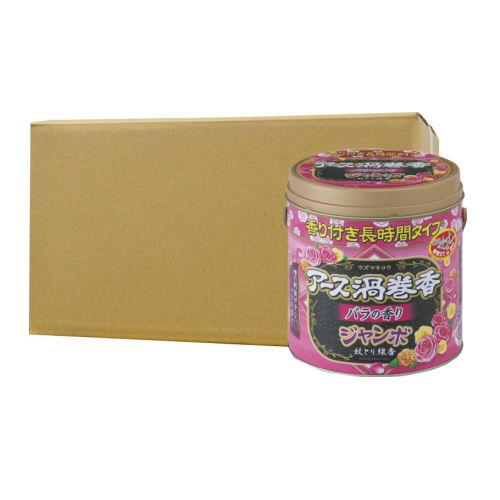 アース渦巻香 バラの香り ジャンボ50巻缶入×12個 アース製薬 [防除用医薬部外品]
