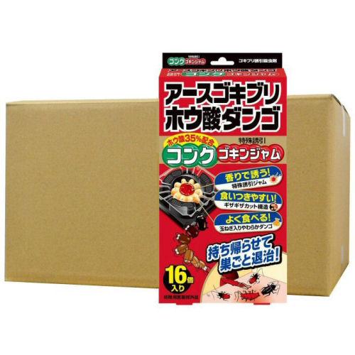 アースゴキブリホウ酸ダンゴ コンクゴキンジャム 16個入×36箱 アース製薬 [防除用医薬部外品]