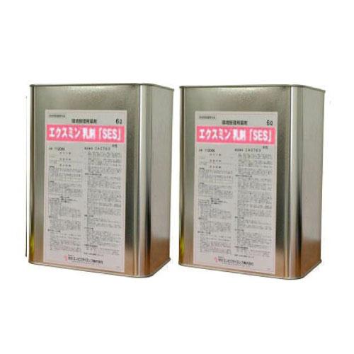 ゴキブリ駆除用殺虫剤 水性 エクスミン乳剤 「SES」 6L×2本 業務用 ペルメトリン 【送料無料】 【北海道・沖縄・離島配送不可】