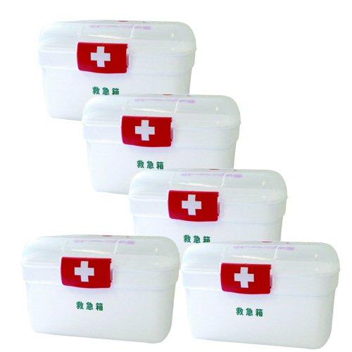 LEポリ救急箱Lサイズ×5セット(衛生材料セット付)