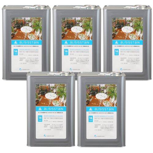 アリシスステイン オリーブ 16L×5本 ケミプロ化成 [木材保護塗料] 【北海道・沖縄・離島配送不可】