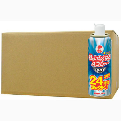 1プッシュで24時間、蚊がいなくなる 蚊がいなくなるスプレーPRO 365プッシュ 無香料 24時間x24個