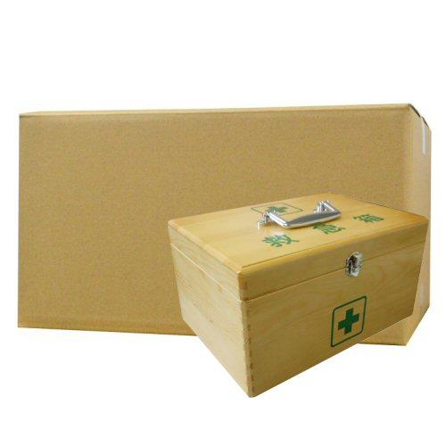 LEリーダー木製救急箱Sサイズ×12セット(衛生材料セット付)