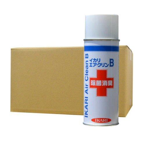 イカリ消毒 エアクリンB 420ml×24本 除菌除臭エアゾール