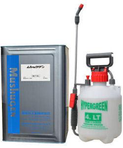 アンモニア臭専用消臭剤 ムシュウゲンLF 18L+蓄圧式噴霧器セット コンポスト工場の悪臭対策に