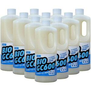 仮設トイレ専用消臭液 バイオジーシー600 1000ml [ BIO GC600 ]×10本 仮設トイレ 悪臭対策 消臭剤 洗浄 防汚