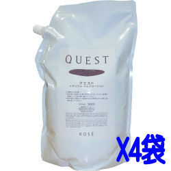 """Kose """"KOSE"""" quest QUEST natural milk lotion (LOTION) 1.2 L × 4 bags and cases for women for cosmetic business"""