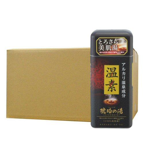 アース製薬 温素[ボトル入り] 琥珀の湯 600g×16本 入浴剤 【北海道・沖縄・離島配送不可】