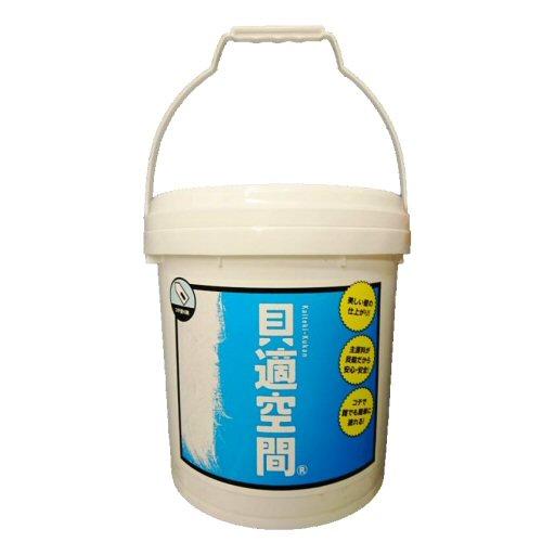 壁材 貝適空間 コテ用〈屋内用〉18kgペール缶