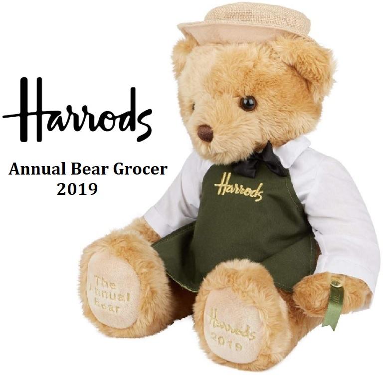 Harrods ハロッズ イヤーベア Annual Bear Grocer 2019 アニュアルベア テディベア テディーベア ぬいぐるみ グローサー