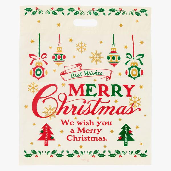 【手作り クリスマス ギフト プレゼント ラッピング サンタ サンタクロース スノーマン】 クラシカル クリスマス バッグ (L) 持ち手部あり 1枚 サイズ:横37cm×44cm×底マチ6cm【メール便可】 【返品・キャンセル不可】ch