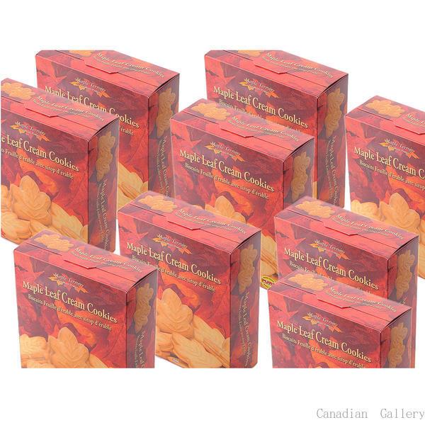 メープルテルワー メープルリーフ クリームクッキー 350g 24枚 24箱 メープルシロップの風味豊なクリームがサンドされています。