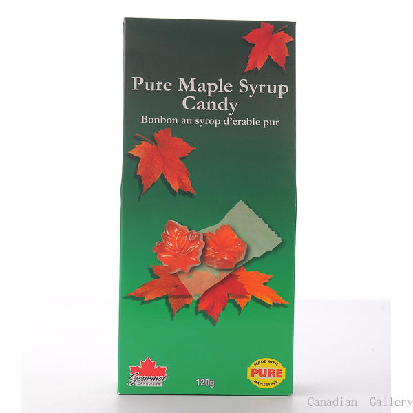 【15個】カナディアン メープルキャンディ 120gメープルシロップ95%使用の香り豊なキャンディーです。