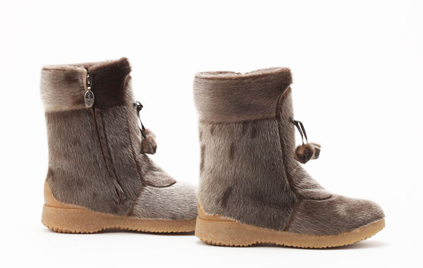 寒さに強い防寒靴 カナダ製 アザラシブーツ『Alaska』 サイズ7.5=24.5cm程度