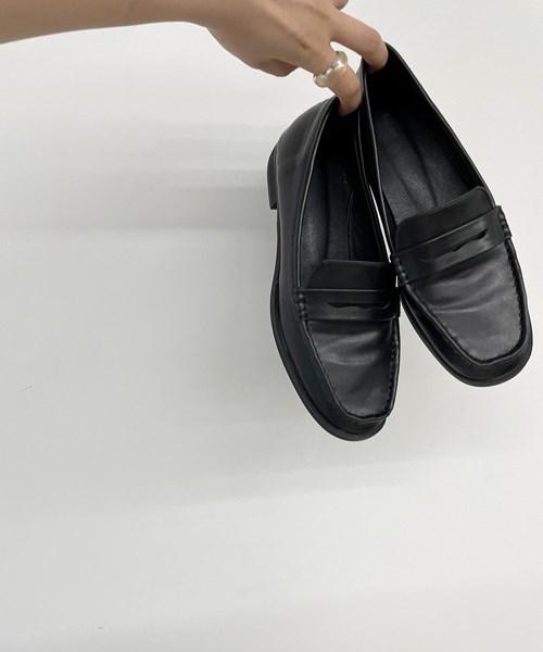 予約商品:9月下旬お届け予定 via j ヴィアジェイ 1着でも送料無料 エコレザーローファーキャナルジーン CANALJEAN 35%OFF レディース エコレザー 靴 シンプル おしゃれ シューズ ローファー