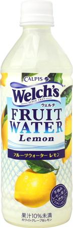 칼 피스 Welch 's 웰 치 과일 워터 레몬 500ml 애완 동물 24 개입