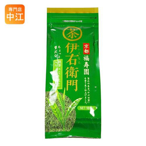 宇治の露製茶 京都福寿園 伊右衛門 抹茶入りかぶせ緑茶 100g 12袋入