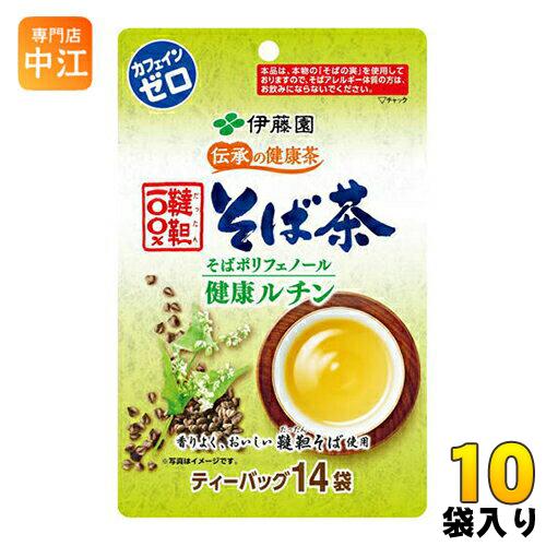 伊藤園 伝承の健康茶 韃靼100%そば茶 ティーバッグ 6.0g×14袋 10袋入