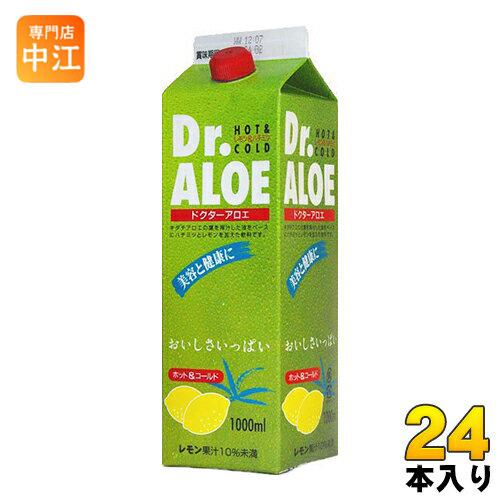 ジーエスフード Dr.ALOE(ドクターアロエ) 1L 紙パック 24本 (12本入×2 まとめ買い)