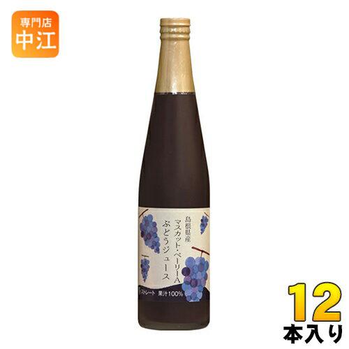 島根ワイナリー ぶどうジュース マスカット・ベリーA 500ml 瓶 12本入