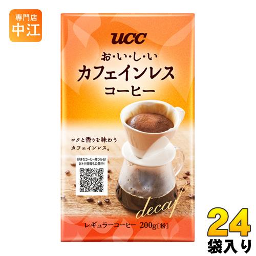 UCC おいしいカフェインレスコーヒー VP 200g袋 24袋入〔コーヒー〕