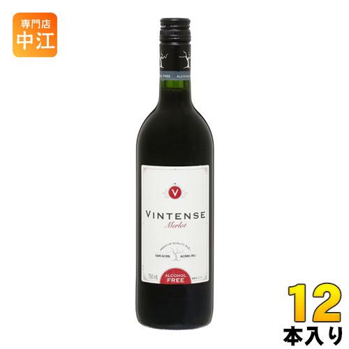 湘南貿易 ヴィンテンス メルロー (赤) 750ml 瓶 12本 (6本入×2 まとめ買い)〔ノンアルコールワイン 赤ワイン やや辛口〕