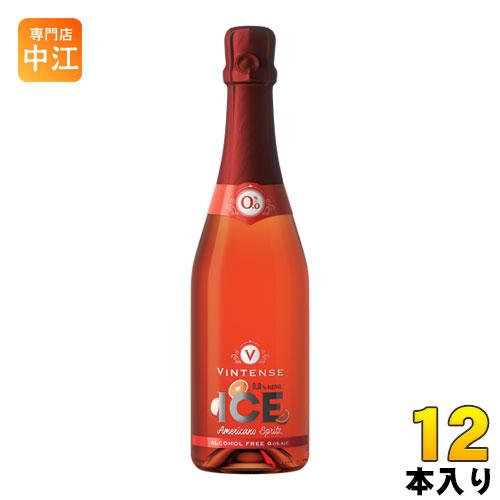 湘南貿易 ヴィンテンス アイス アメリカーノスプリッツ (ノンアルコールワイン+ブラッドオレンジ) 750ml 瓶 12本 (6本入×2 まとめ買い)