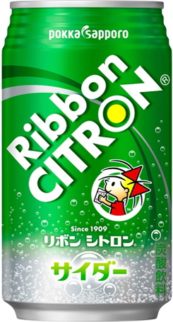 Pop carbonated drink] made with 24 canned 350 ml of Pokka Sapporo ribbon lemonade Motoiri [Ribbon Citron pure water