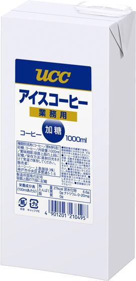 UCC 냉커피 업무용가당 1 L지 팩 6개입