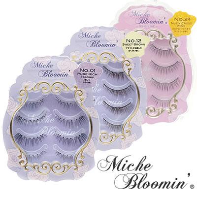 It is eyelashes lower eyelashes Miche Bloomin' in ミッシュブルーミンアイラッシュ four  pairs No  01-28 false eyelashes false eyelashes