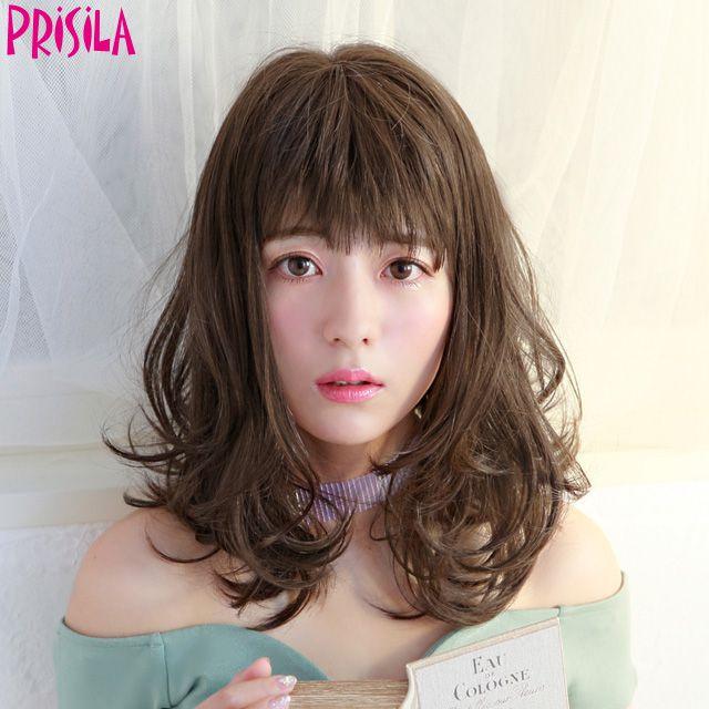 【店内P最大20倍】プリシラ オールウィッグ【フリルカールミディ】A-693耐熱 (送料無料)