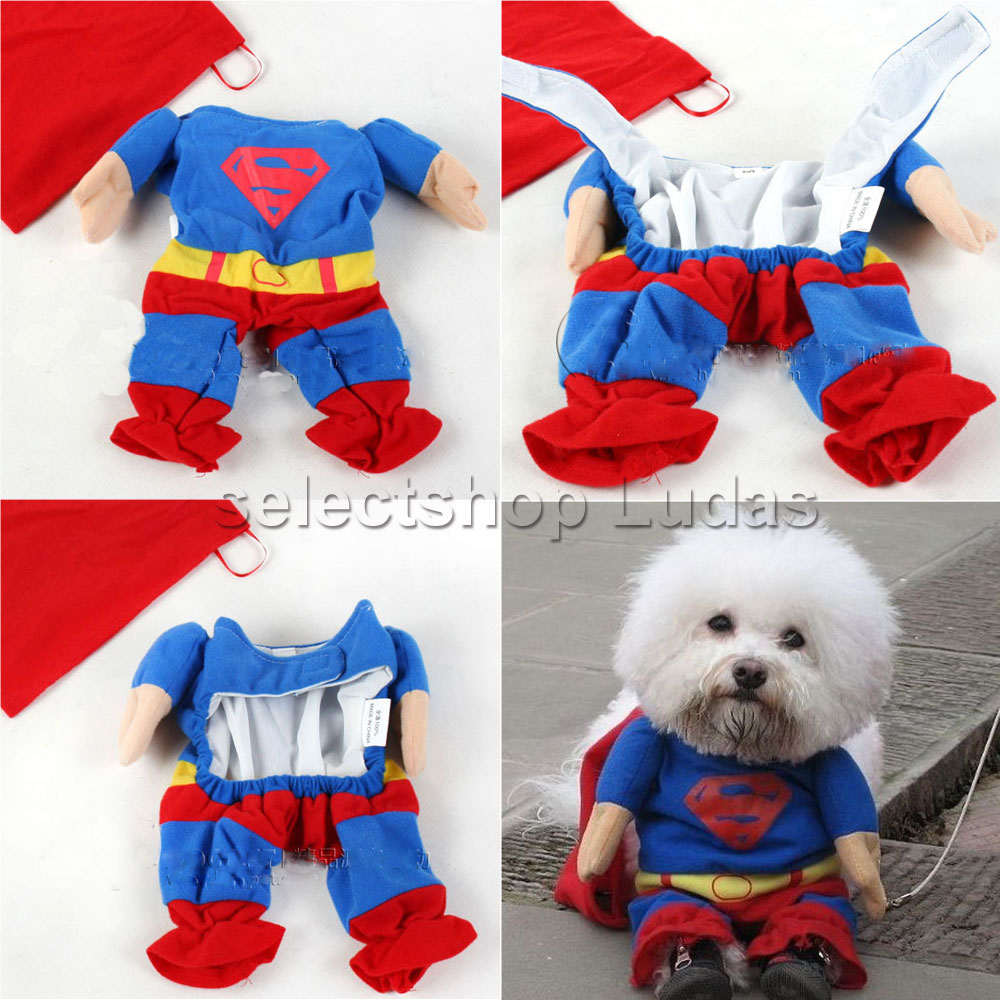 2c069c10ec8 Superman dog clothes cat clothes small size dog disguise bipedalism costume  play Halloween dogware S M L XL LP-09