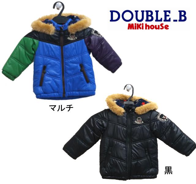 【セール20%OFF】DOUBLE.B(ダブルB)中綿ファージャンパー63-3703-563(マルチ・ブラック)(80cm・90cm)