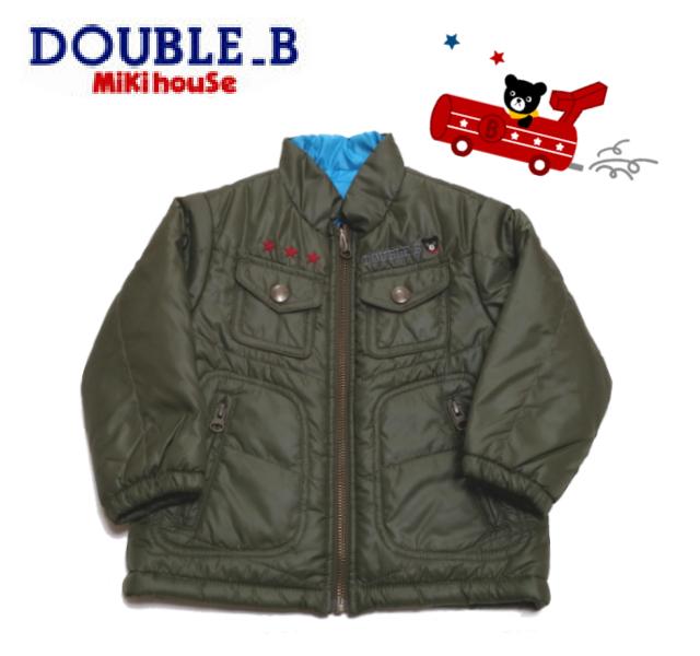 【セール20%OFF】DOUBLE.B【ダブルビー】ナイロンジャケット(グリーン・90cm)63-3707-732