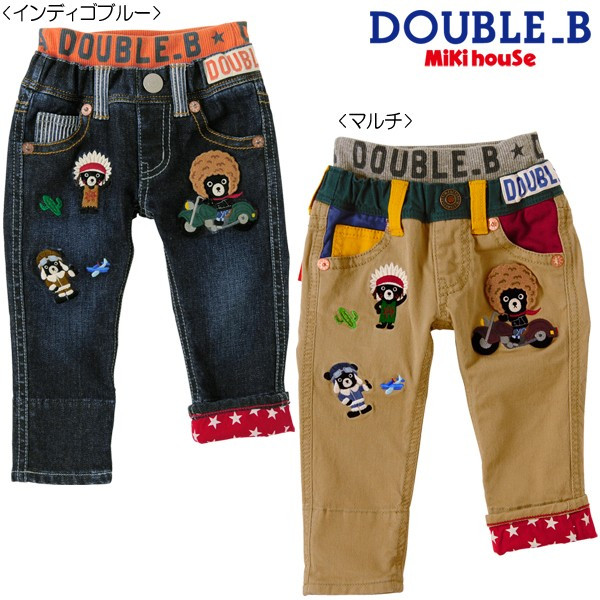 【セール20%OFF】ダブルB アメリカンヒーローズ☆ジーンズ(100cm・110cm)
