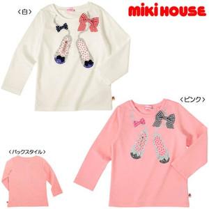 【30%OFFセール】miki house ミキハウス リーナちゃんバレエシューズ長袖Tシャツ 白 100cm