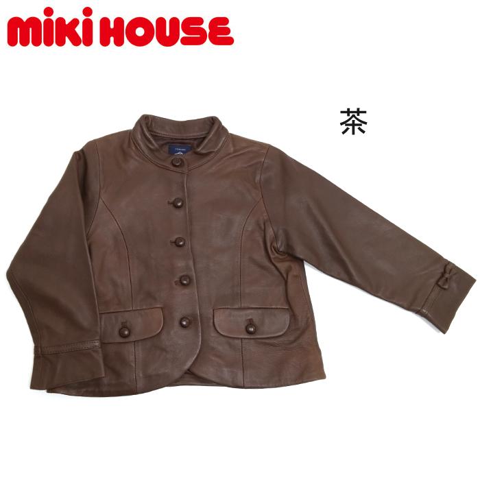 30%OFF【MIKIHOUSE】ミキハウスSTANDARD 羊皮ジャケット ¥48000→¥33600