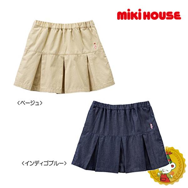 ミキハウス【MIKIHOUSE】プリーツスカート(100cm・110cm)定価\7800+税→\5460+税