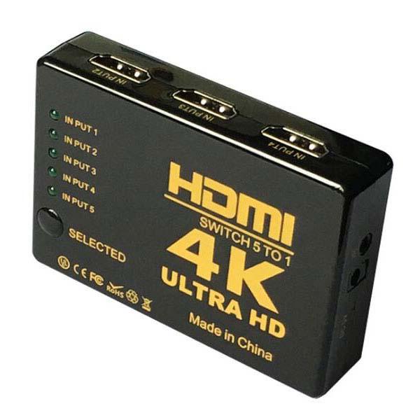 全ての商品が 送料無料 の素敵なお店 最大10倍ポイント企画開催中 4K対応 5系統入力対応の超小型HDMI切替器5ポート 5x1 HDMIセレクタースイッチングHUB 中古 5入力1出力の小型HDMI切替器 ミニHDMI切替器 テレビ モニター 新商品!新型 パソコン PS4 DVDプレイヤー PS3 ゲーム機器 ブルーレイ機器 WiiU プロジェクターなどHDMI端子搭載機器対応