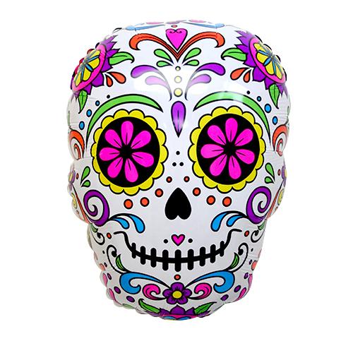 メキシカン ラッピング無料 ハロウィンパーティーにおしゃれなバルーン ハロウィン ビッグバルーン シュガースカル 53センチ フィエスタ 返品不可 デスパーティー リメンバーミー 死者の日