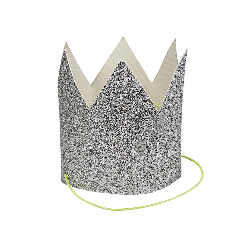 パーティーにおしゃれな紙コップ フタ付き紙コップ merimeri 最新アイテム クラウン シルバーグリッター 8個セット 人気商品