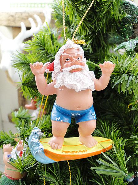 I Give A Hawaiian Enthusiast It Special Christmas Hawaiian Christmas Ornament Surfing Santa Decoration Interior Decoration Garland Mary